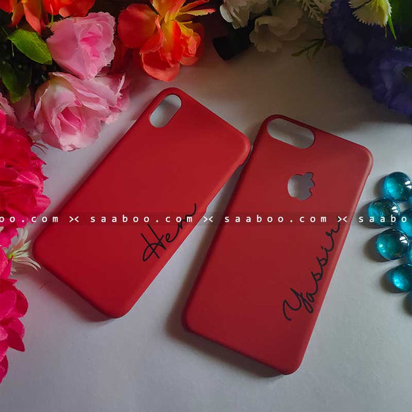Red Case with Name Cases for BFF Goals and Couple Goals