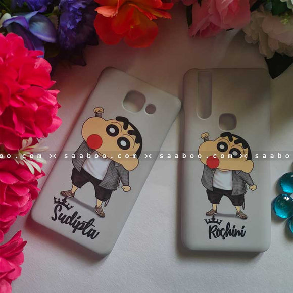 Shinchan with Name Cases for BFF Goals and Couple Goals