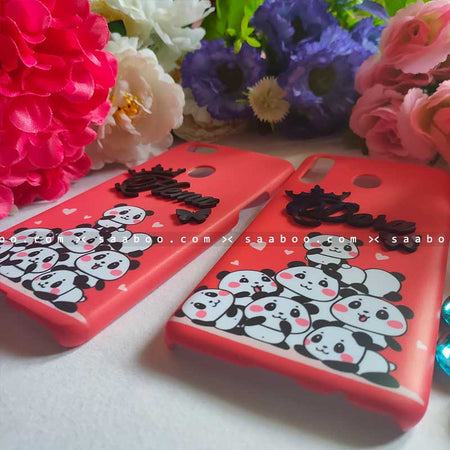4D Name Panda Case for BFF Goals and Couple Goals