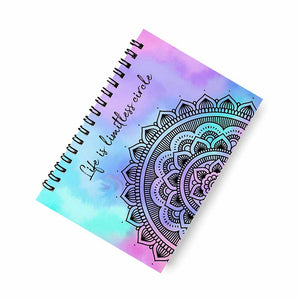 Life is Limitless Circle Mandala A5 Spiral Notebook