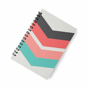 Arrow Stripes A5 Spiral Notebook