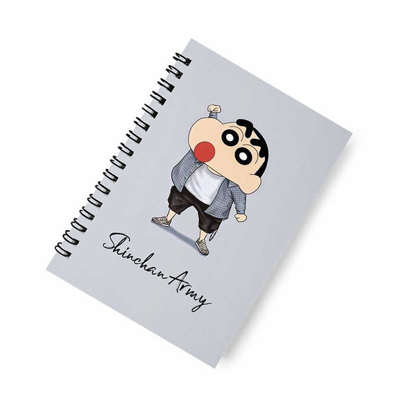 Shinchan Army A5 Spiral Notebook