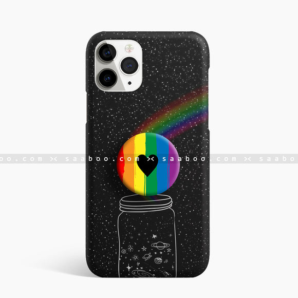 Rainbow Color Black love