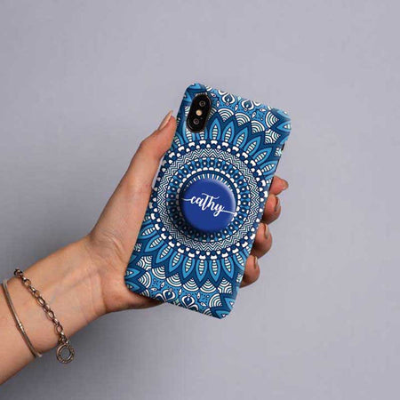 Gripper Case With Blue Mandala