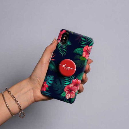 Gripper Case With Dark Blue Flowers