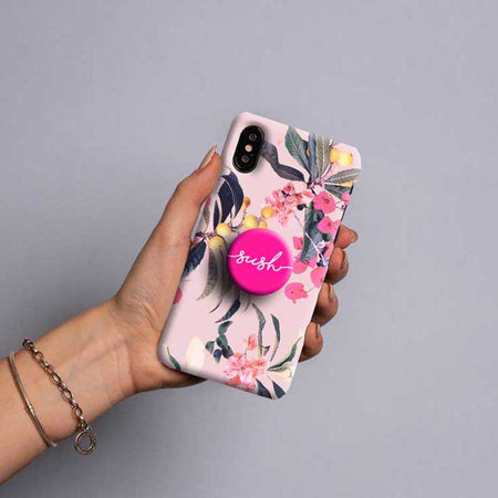 Gripper Case With Light Pink Flowers