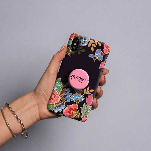 Gripper Case With colorful floral