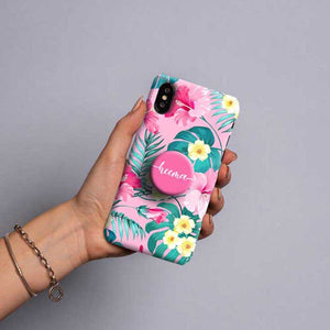 Gripper Case With Pink Floral