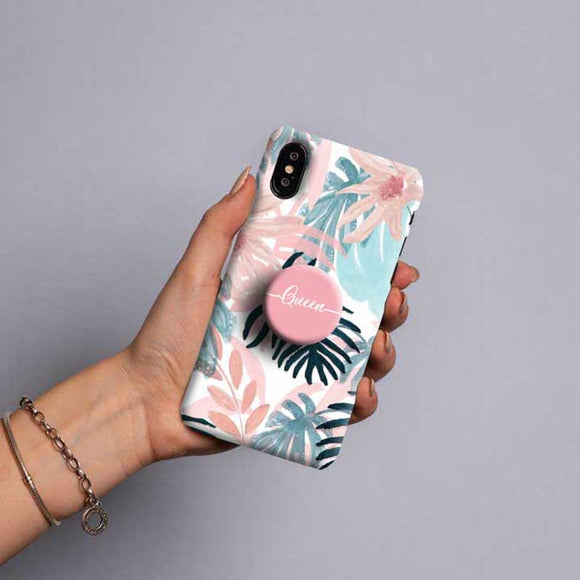 Gripper Case With Pink & blue Floral