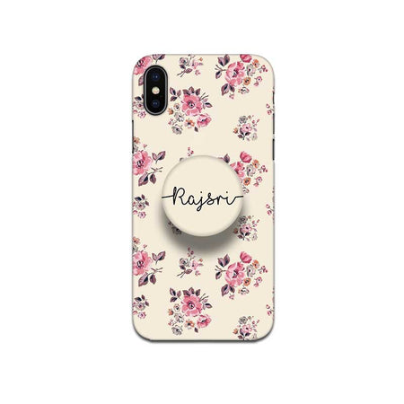 Gripper Case With Pink Floral Sandal Name