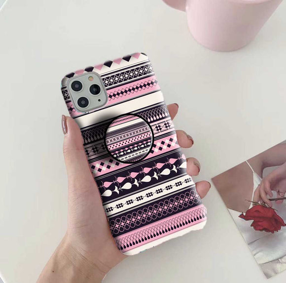 Gripper Case With Pink Pattern