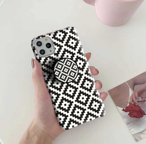 Gripper Case With Black Diamonds Pattern