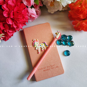 Stationery - saaboo - Unicorn Pink Diary and Pen