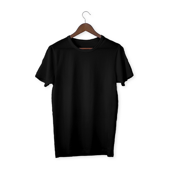 Black solid Unisex T-Shirt