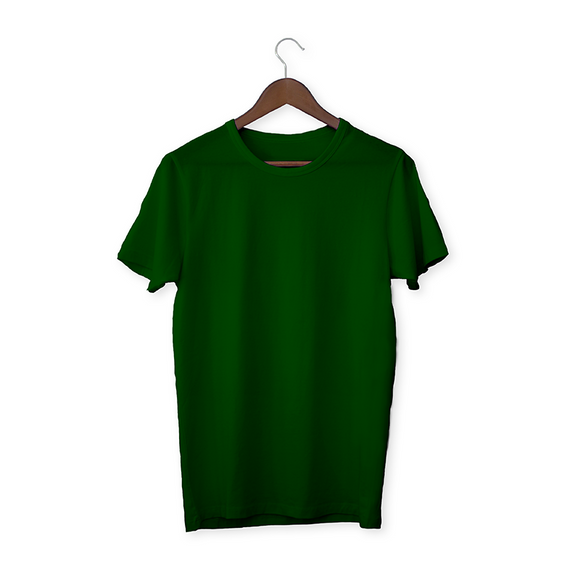 Dark Green solid Unisex T-Shirt