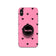 Gripper Case With Pink Black Hearts Name