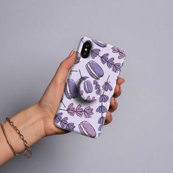 Gripper Case With Lavender Floral Drawing