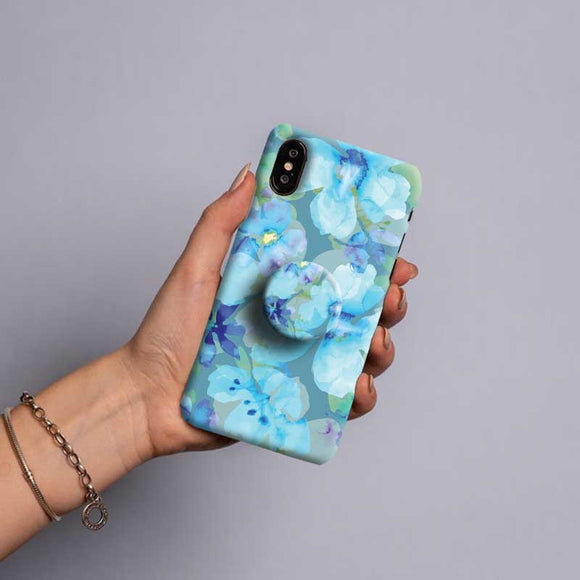Gripper Case With Blue flowers