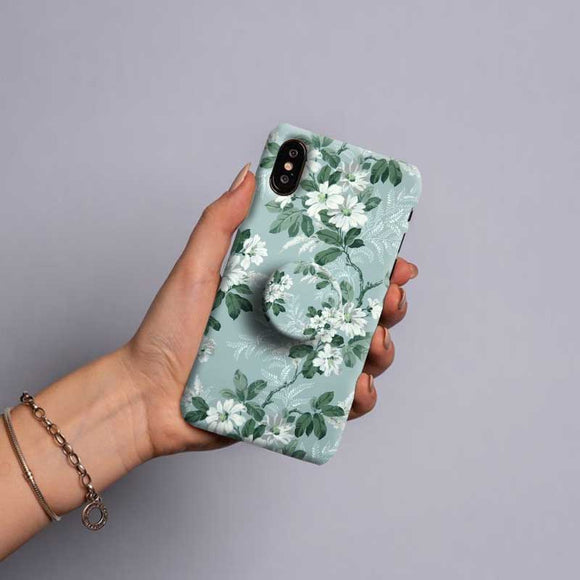 Gripper Case With Green Flowers