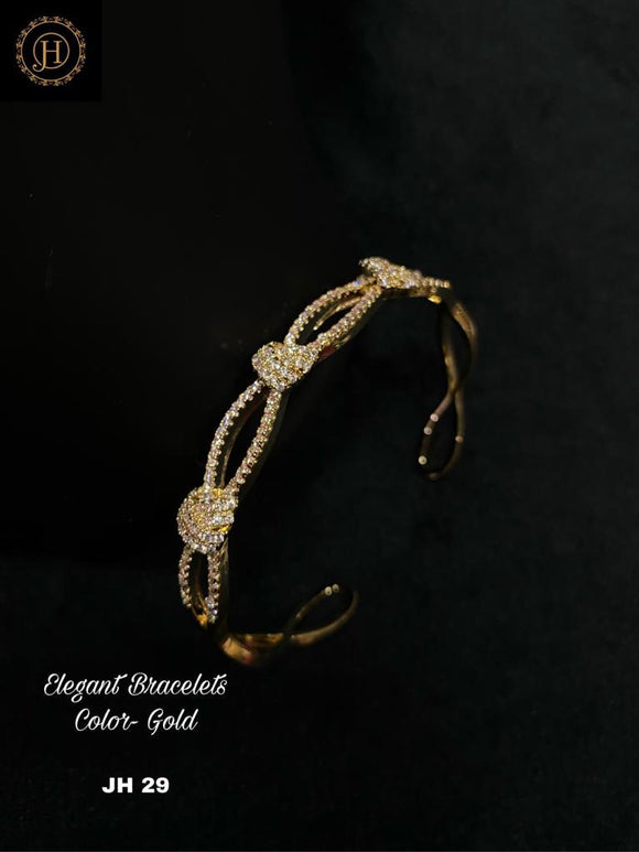 Gold Plated Bracelet with stone Work