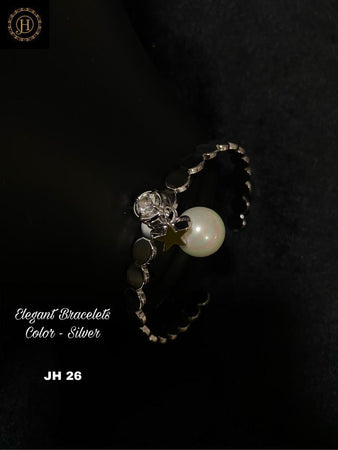 Silver Plated Bracelet with stone and Pearl