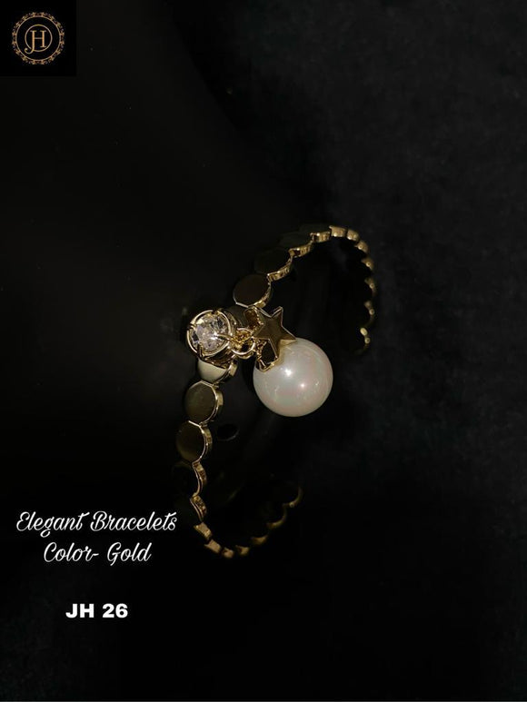 Gold Plated Bracelet with stone and Pearl