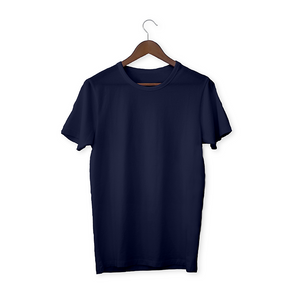 Navy blue solid Unisex T-Shirt