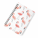 Flamingo white A5 Spiral Notebook