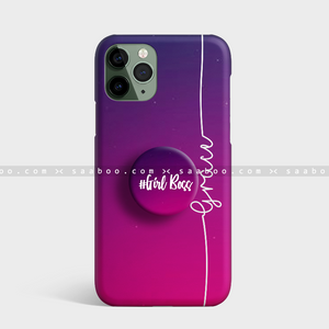 Light Pink Shades Gradient Name Gripper Case