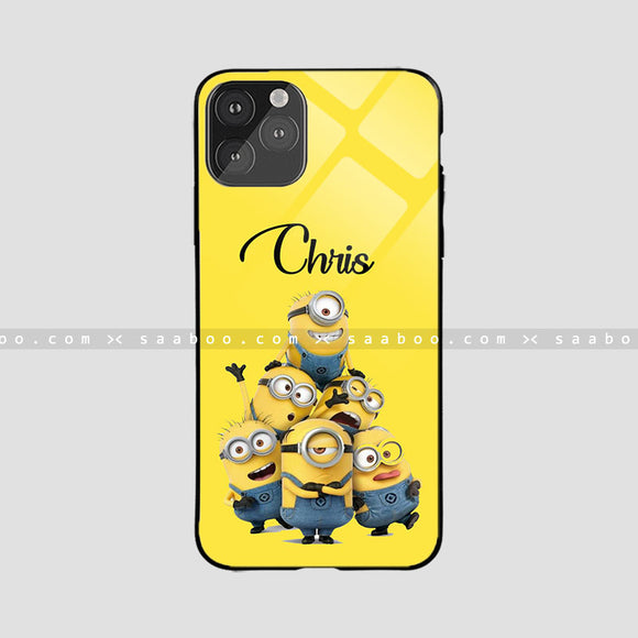 Glass Case With Group Minion Name