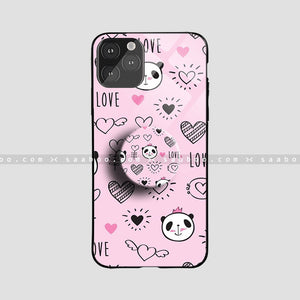 Glass Case With Pink Panda