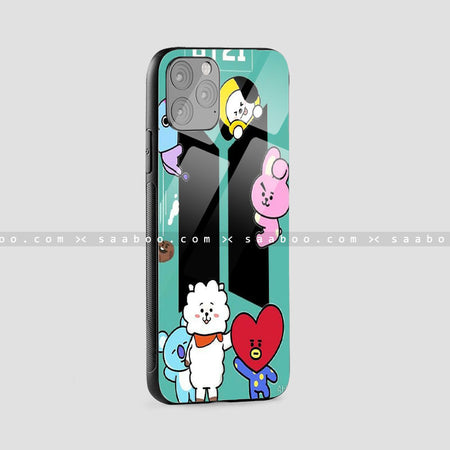 Glass Case With BT21 Design