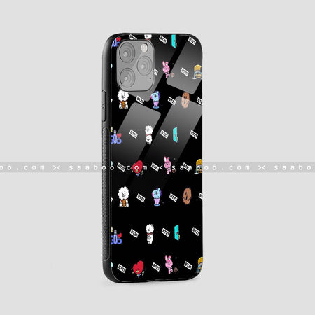 Glass Case With Black BT21