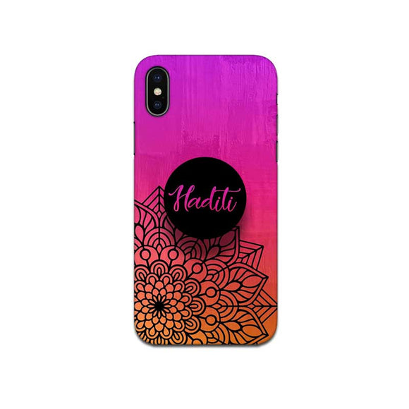 Gripper Case With Pink Purple Mandala Name
