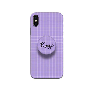 Gripper Case With Lavender Checked Name