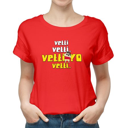 Vetti Shinchan Red Unisex T-Shirt