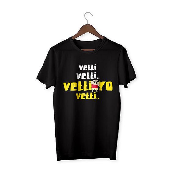 Vetti Shinchan Black Unisex T-Shirt