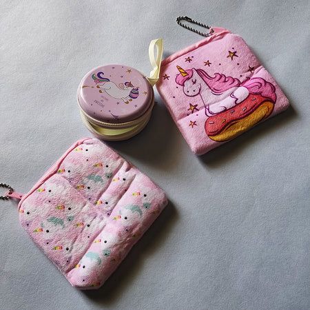 Stationery - saaboo - Unicorn Double Pouch Pink Combo