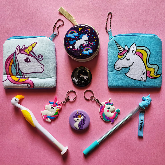 Stationery - saaboo - Unicorn Double Pouch Blue Combo