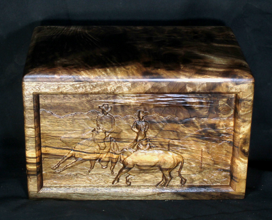 Myrtle Handmade Urn with Last Roundup Western Theme