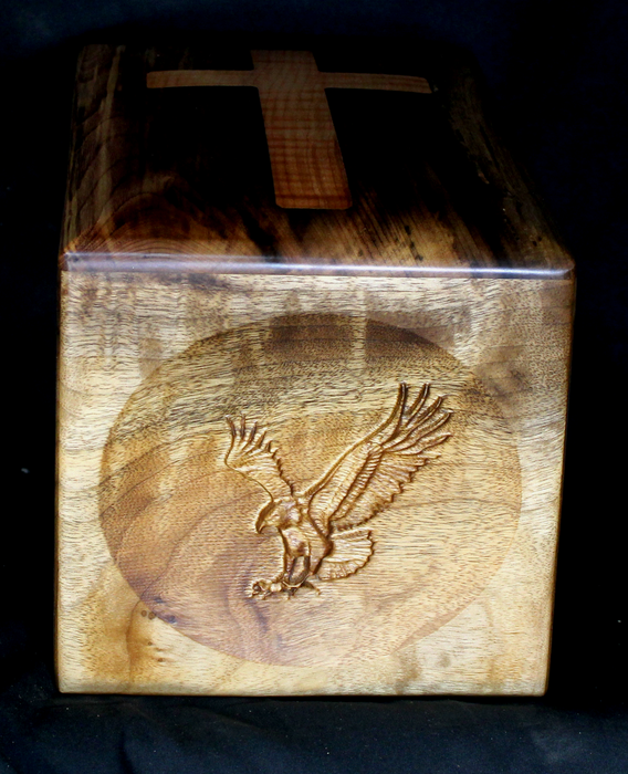 Myrtle Urn with American Flag and Eagle Handmade (AA24)