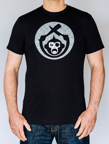 Monkey Knife Fight Men's Baseball Short Sleeve T-Shirt