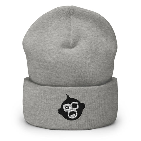 Monkey Knife Fight No Knives Cuffed Beanie