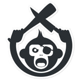 Monkey Knife Fight Original Bubble-free stickers