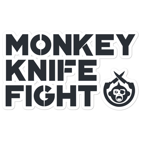 Monkey Knife Fight Signature Bubble-free stickers