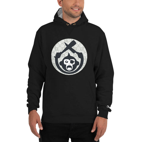 Monkey Knife Fight Floral Baseball Champion Hoodie