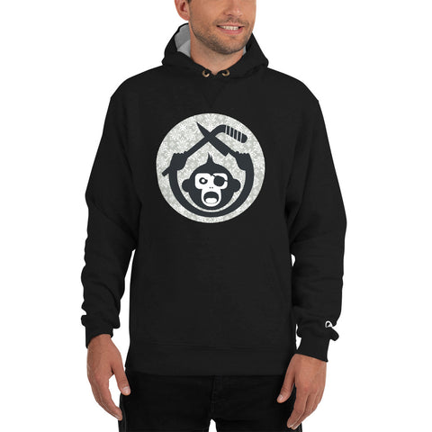 Monkey Knife Fight Floral Hockey Champion Hoodie
