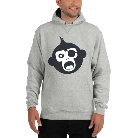 Monkey Knife Fight No Knives Champion Hoodie