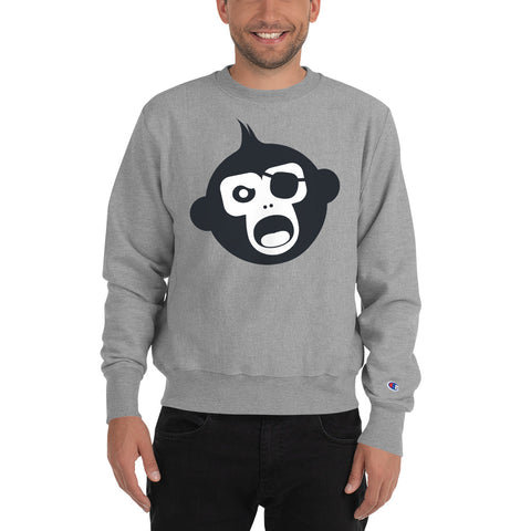 Monkey Knife Fight No Knives Champion Sweatshirt