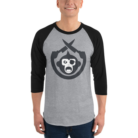 Monkey Knife Fight Original 3/4 Sleeve Raglan Shirt
